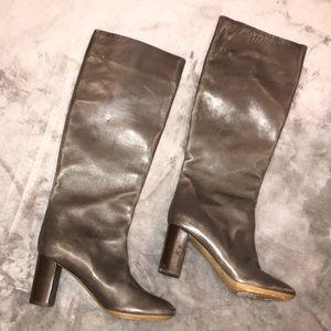 Chloé Gray Heel Boots